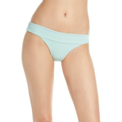 L Space Veronica Ribbed Bikini Bottoms, Green