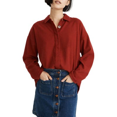 Madewell Bromley Flannel Shirt, Red