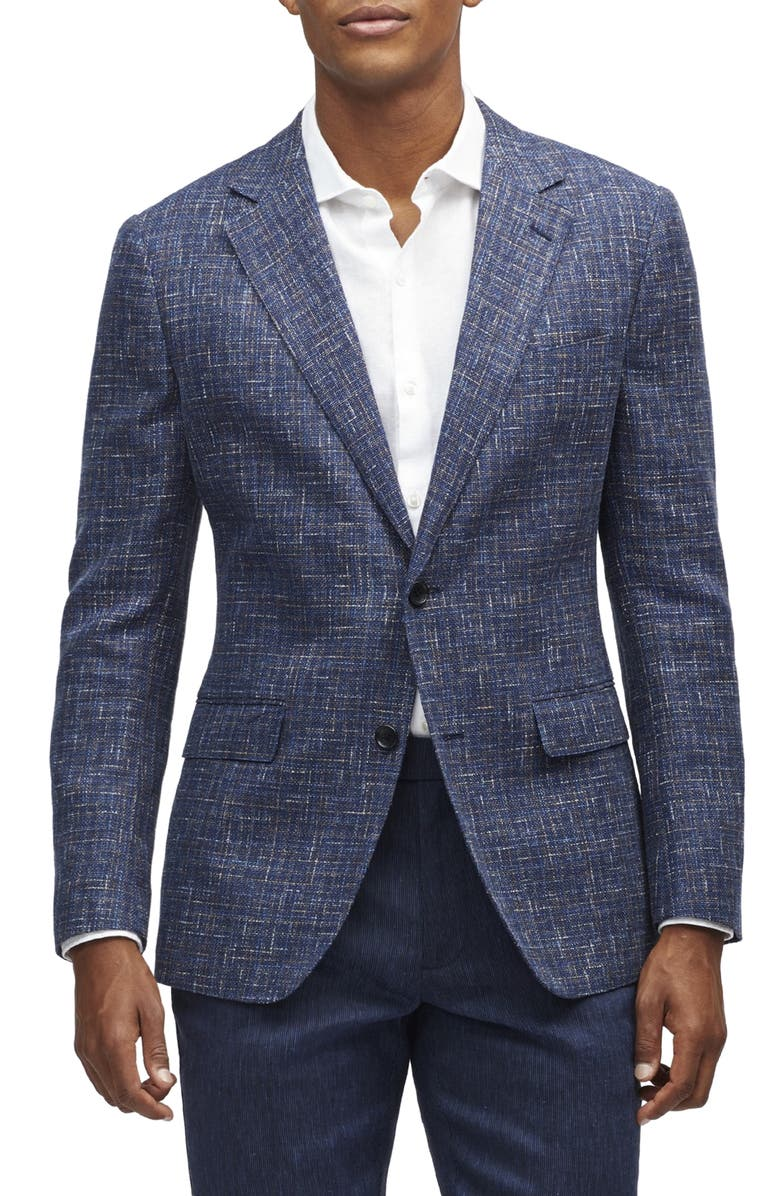 BONOBOS Capstone Slim Fit Tweed Linen Blend Sport Coat, Main, color, 400