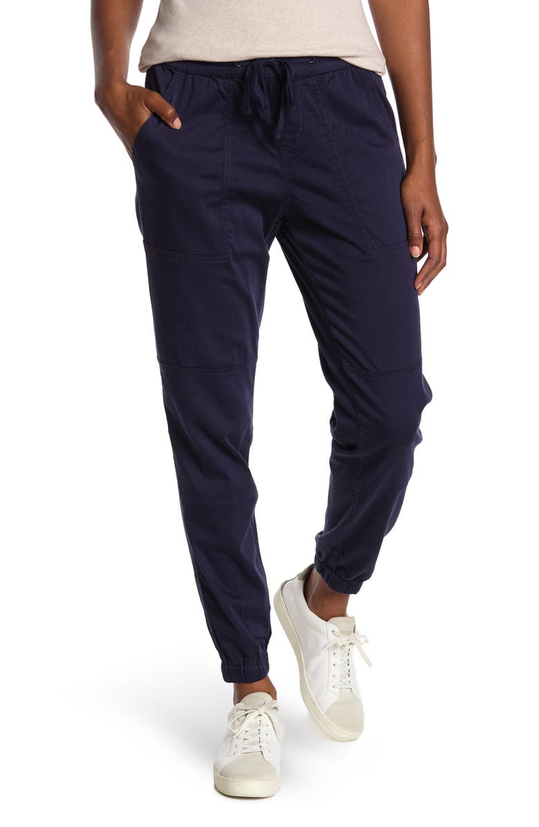 SUPPLIES BY UNION BAY Demery Solid Sateen Joggers, Main, color, NAVY BLUE