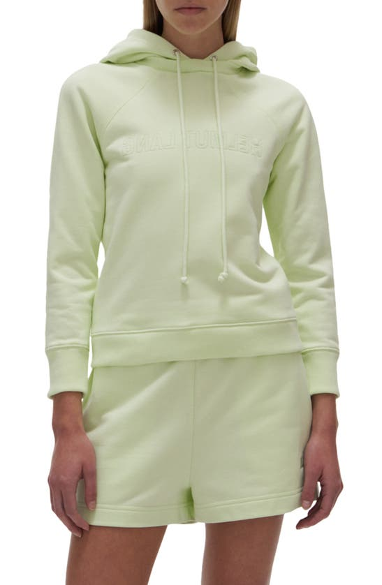 Helmut Lang Hoodies EMBROIDERED FITTED HOODIE