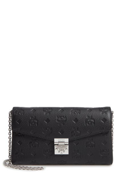Mcm MILLIE MEDIUM CALFSKIN LEATHER WALLET ON A CHAIN