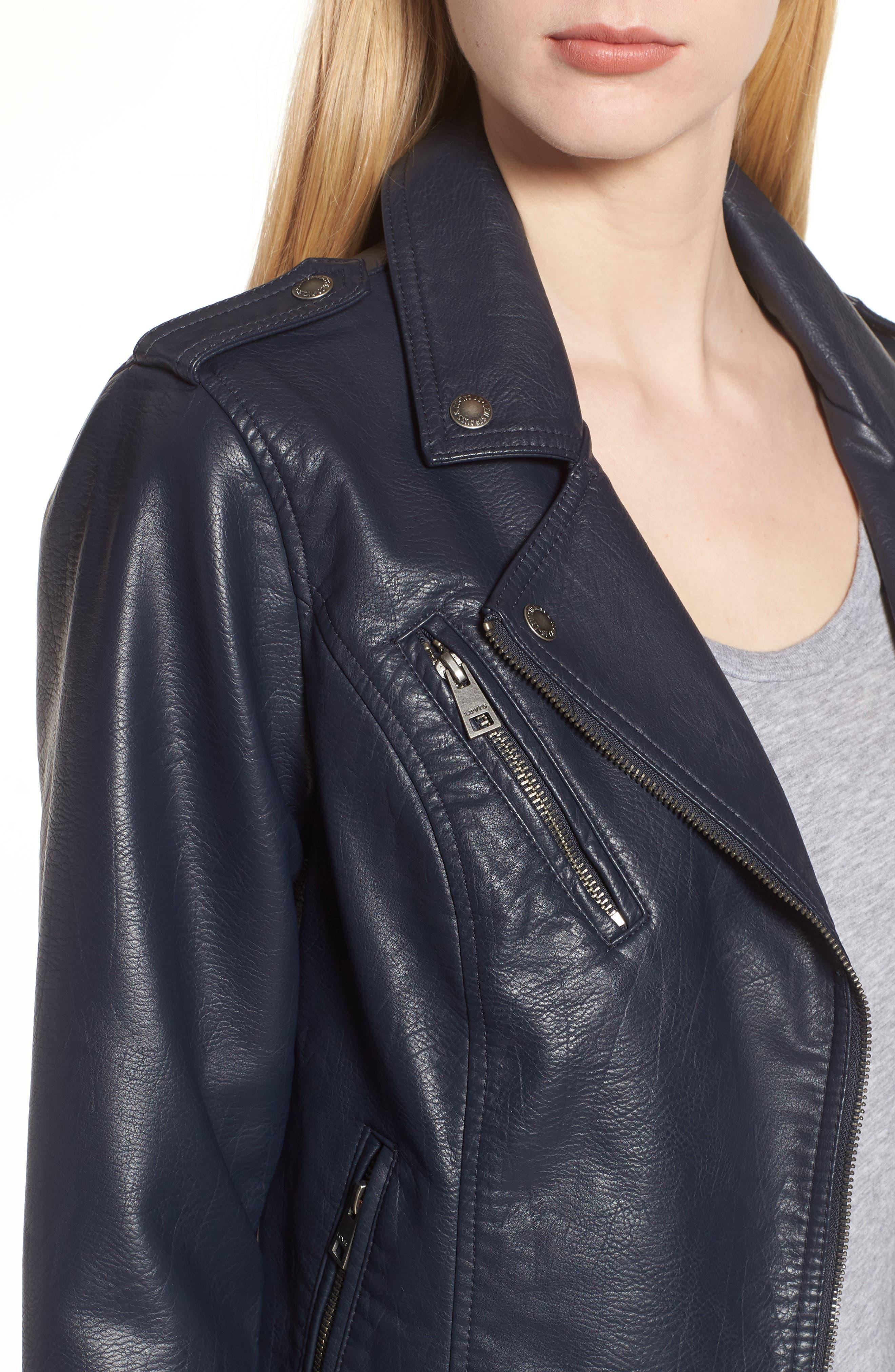 ,                             Faux Leather Moto Jacket,                             Alternate thumbnail 11, color,                             410