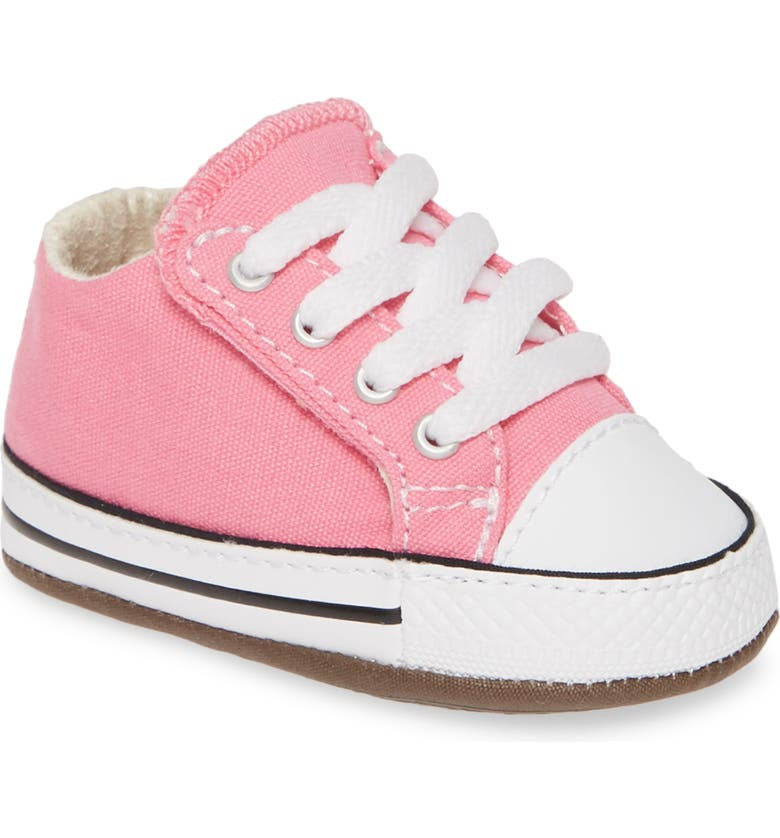 CONVERSE Chuck Taylor<sup>®</sup> All Star<sup>®</sup> Cribster Low Top Crib Shoe, Main, color, PINK/ NATURAL IVORY/ WHITE
