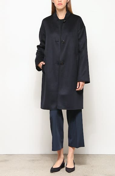 Stand Collar Double Face Cashmere Coat, video thumbnail