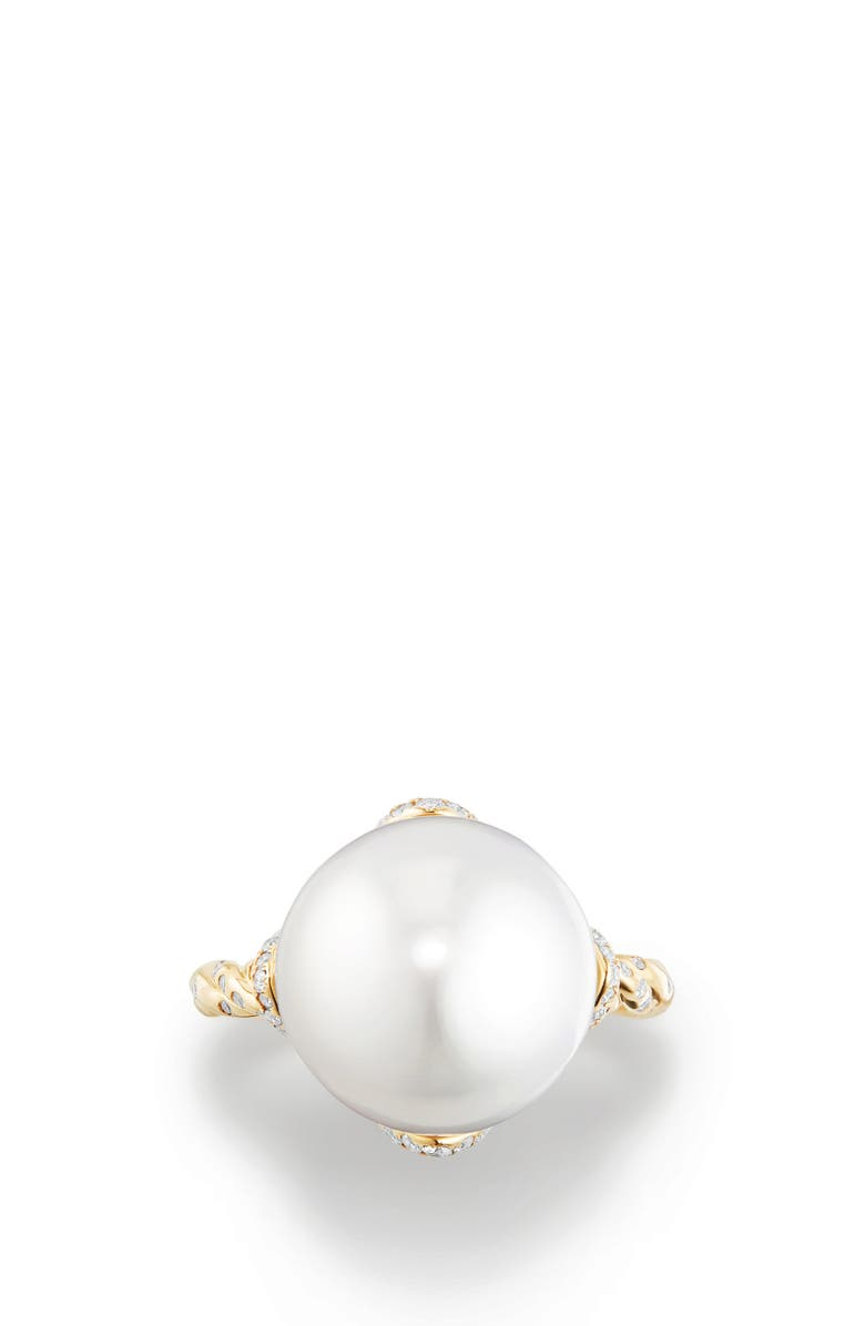 DAVID YURMAN Continuance Pearl Cocktail Ring with Diamonds, Main, color, 710