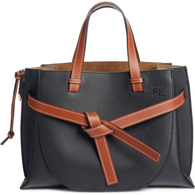 Loewe Gate Calfskin Leather Tote - Black