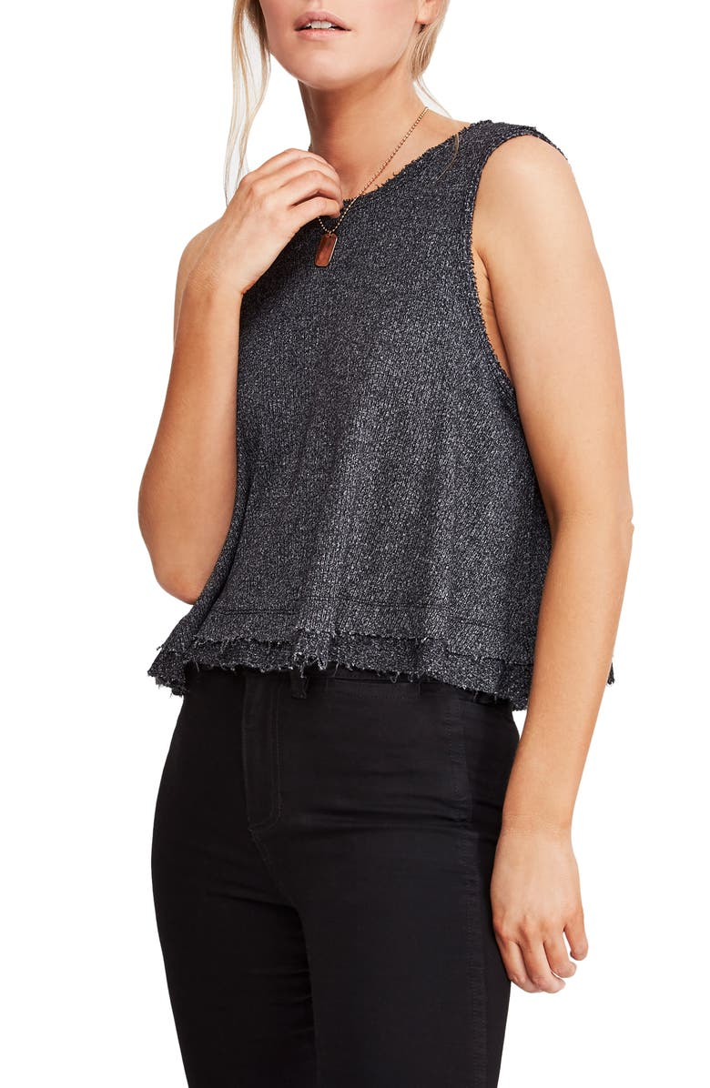 FREE PEOPLE New Love Tank, Main, color, BLACK