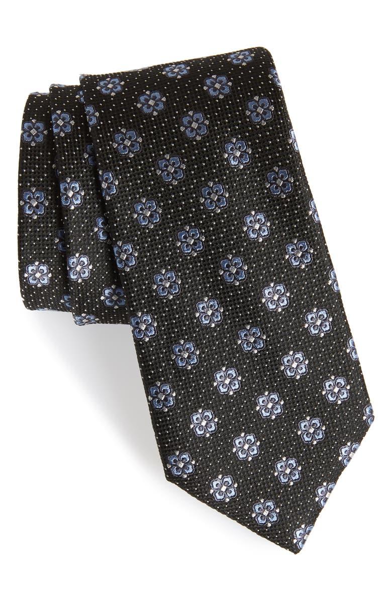 NORDSTROM MEN'S SHOP Matteo Floral Silk Tie, Main, color, 001
