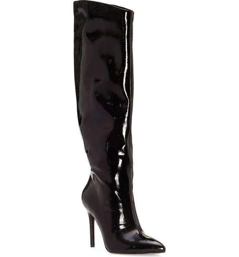 JESSICA SIMPSON Linley Pointed Toe Boot, Main, color, BLACK PATENT LEATHER