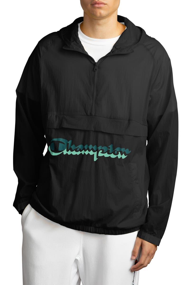 CHAMPION Manorak Packable Jacket, Main, color, BLACK