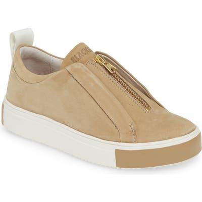 Blackstone Rl62 Zip Front Sneaker, Beige
