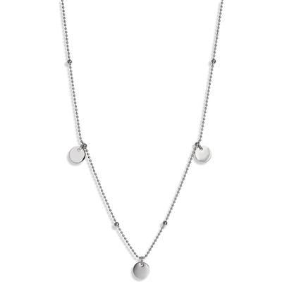 Knotty Disc Charm Necklace