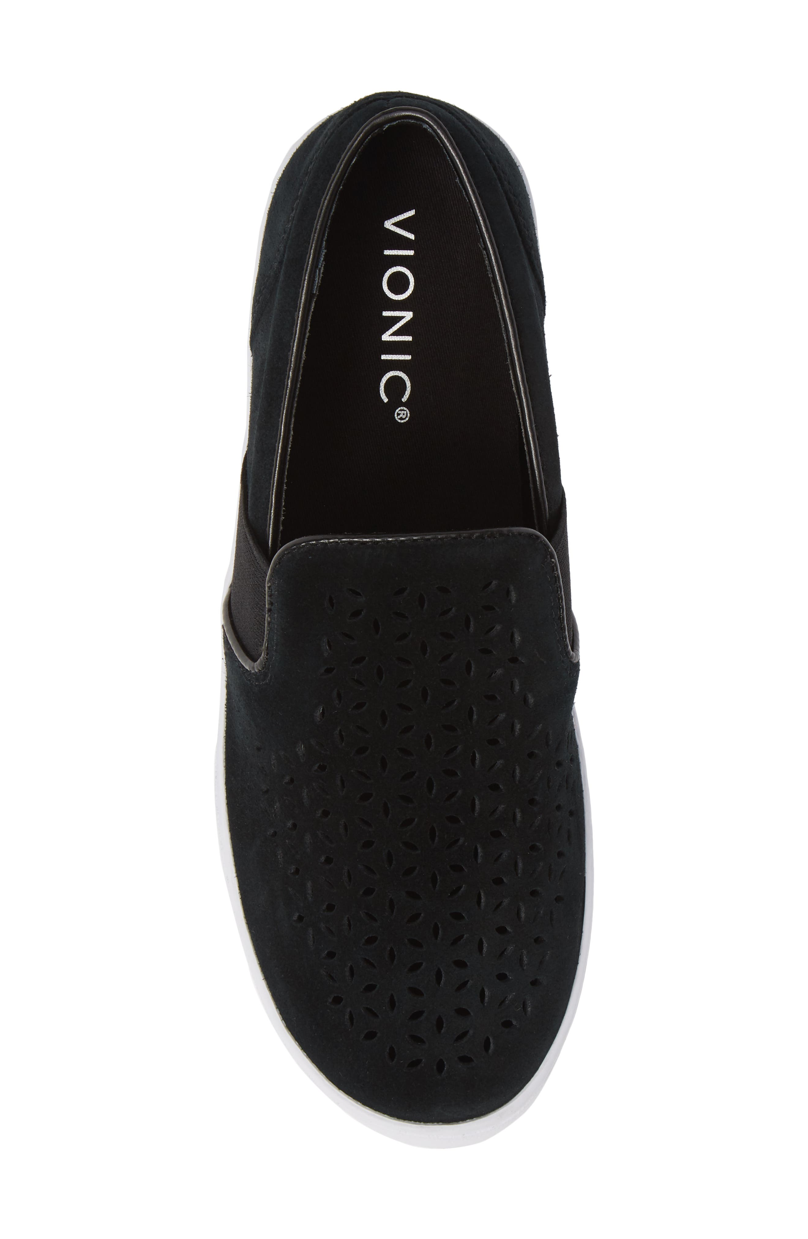 ,                             Kani Perforated Slip-On Sneaker,                             Alternate thumbnail 5, color,                             BLACK NUBUCK