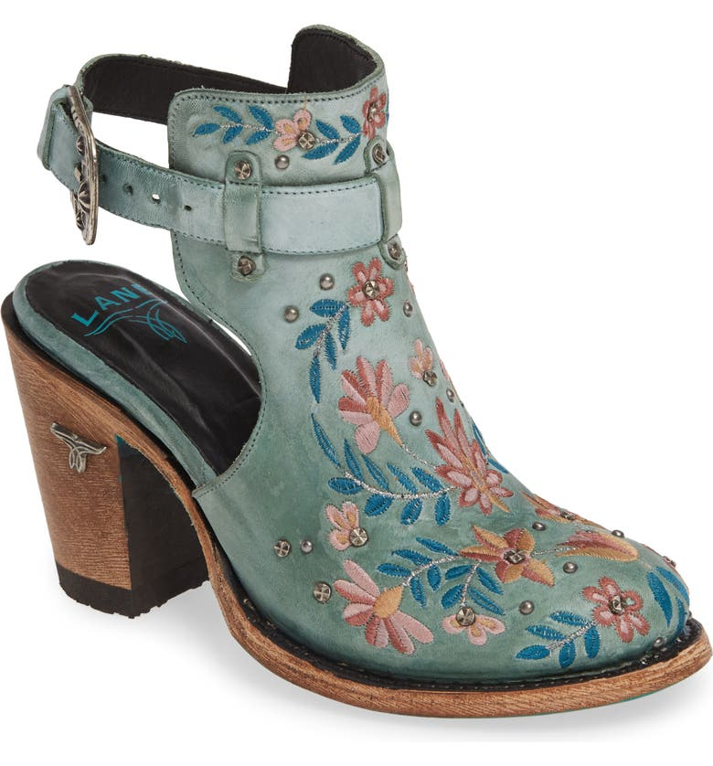 LANE BOOTS Halfsie Floral Embroidered Bootie, Main, color, 440