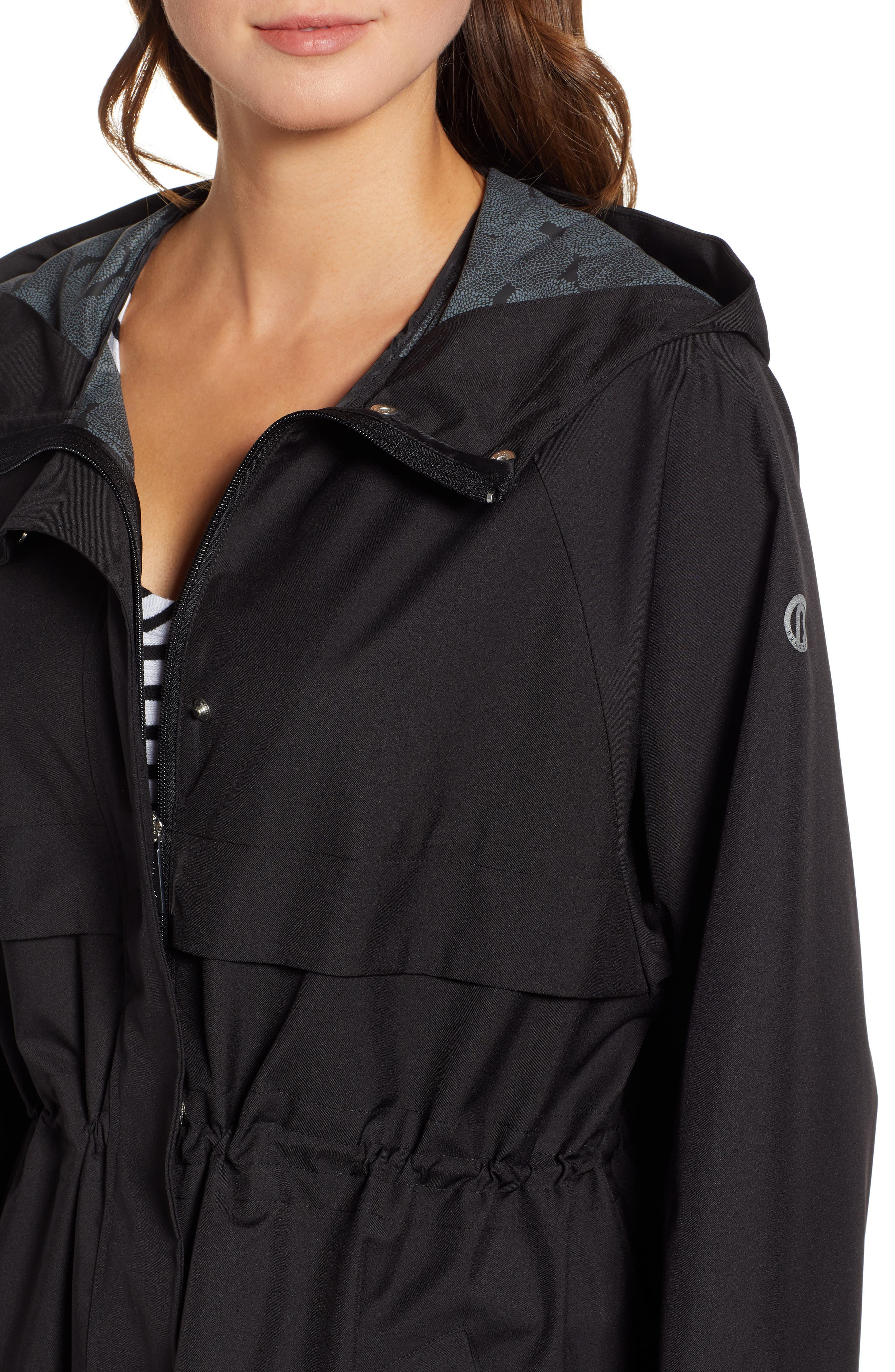 ,                             Micro Breathable Oversize Hooded Jacket,                             Alternate thumbnail 4, color,                             001