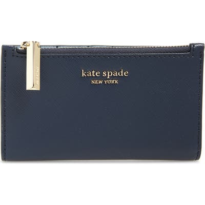 Kate Spade New York Spencer Small Slim Saffiano Leather Bifold Wallet -
