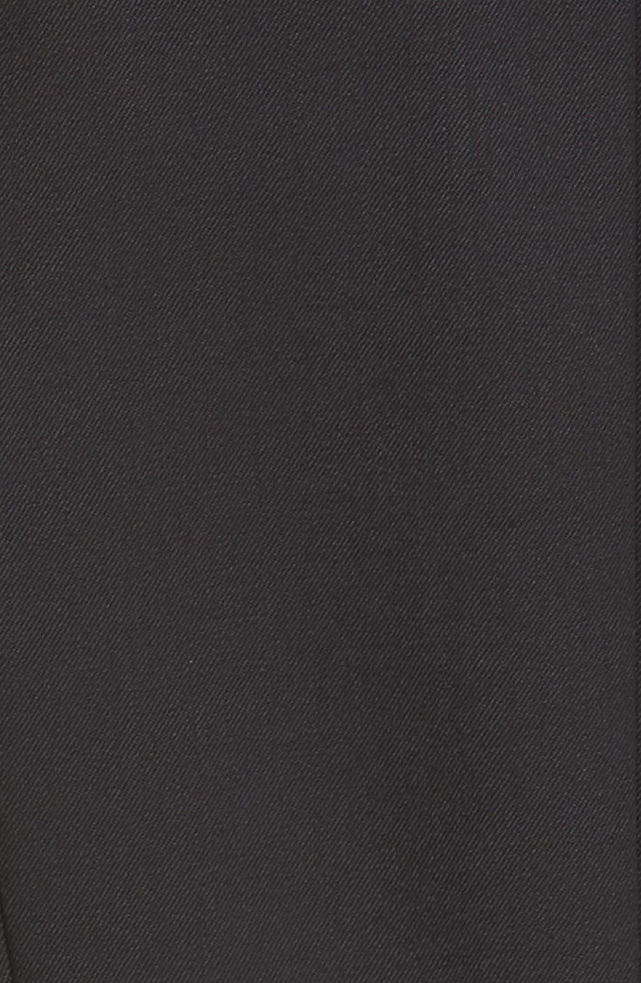 ,                             Side Stripe Wool Blend Jumpsuit,                             Alternate thumbnail 6, color,                             BLACK DARK NAVY