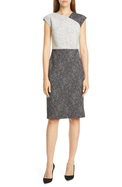 Boss Dresses DECHESTA TWEED COLORBLOCK SHEATH DRESS