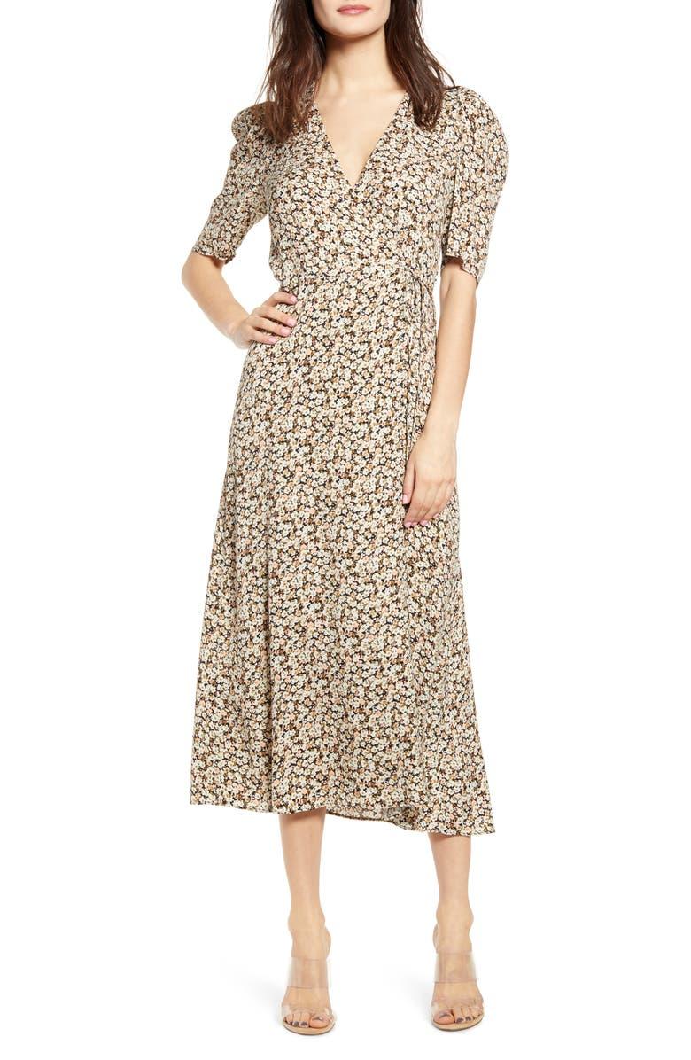 Hughes Midi Wrap Dress by Afrm