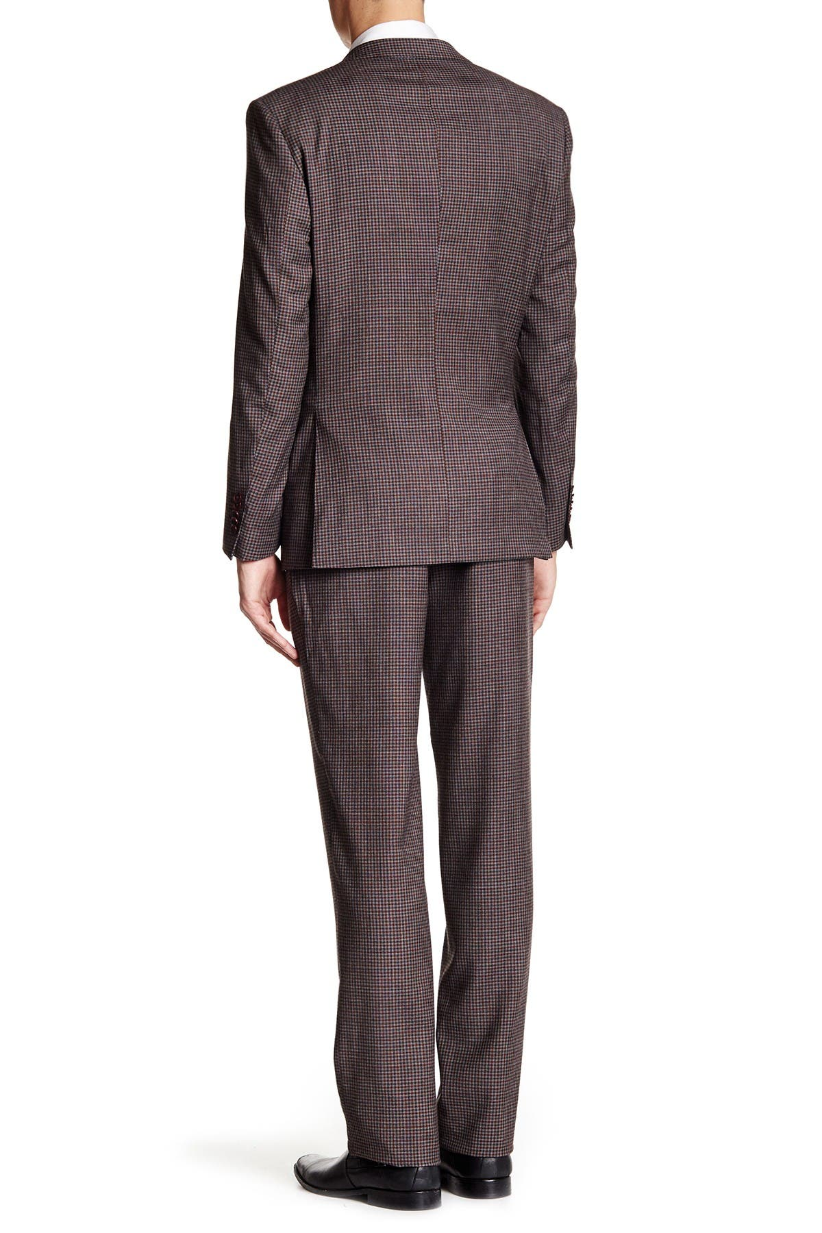 Image of English Laundry Check Two Button Notch Lapel Wool Trim Fit Suit