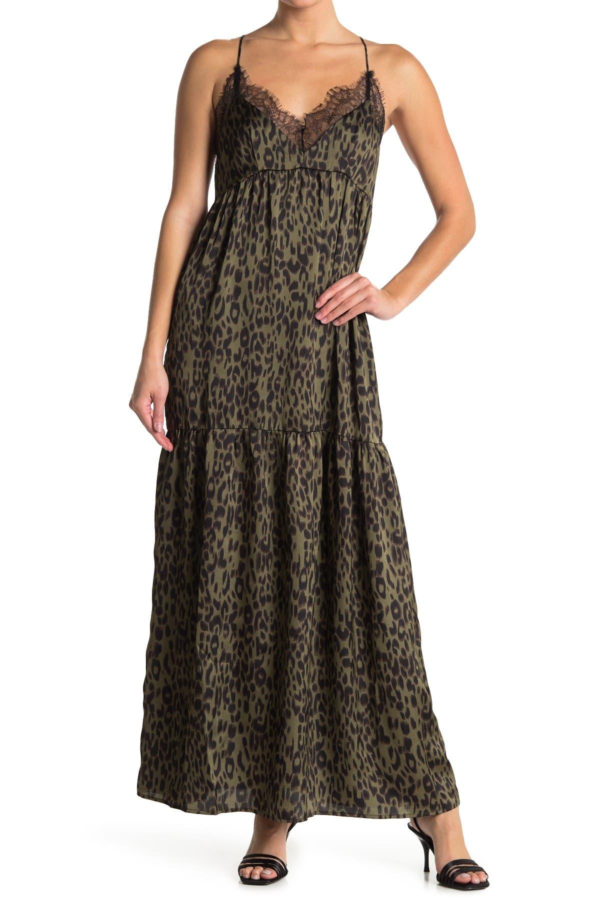 Image of Love Stitch Leopard Print Maxi Dress