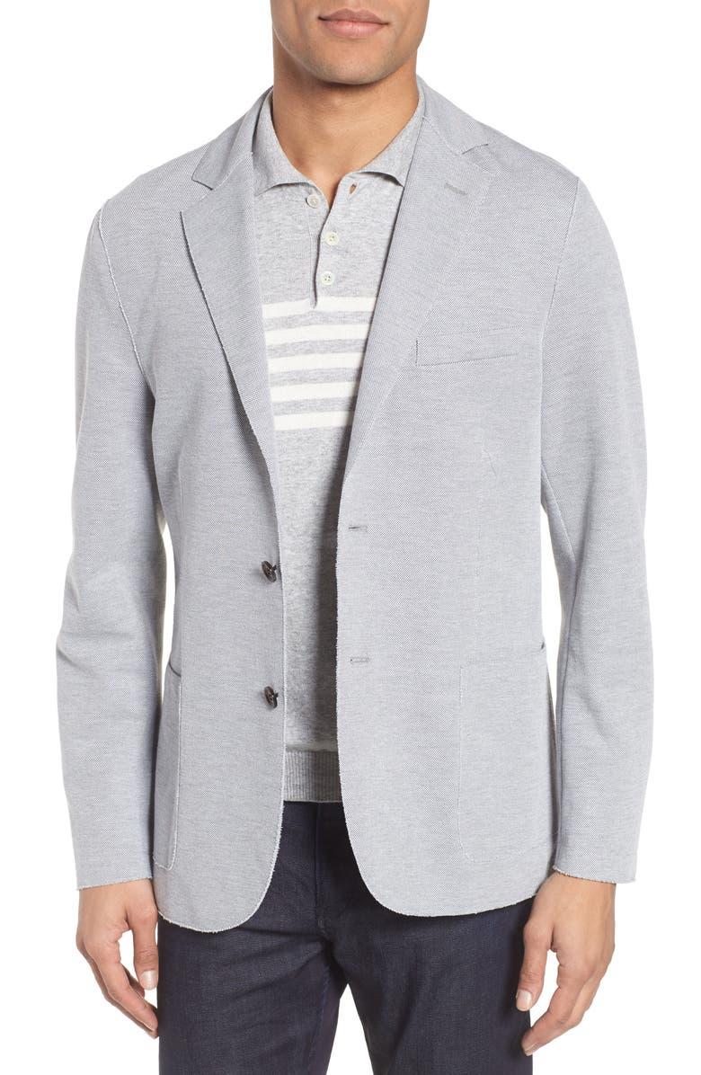 ELEVENTY Slim Fit Jersey Sport Coat, Main, color, GREY
