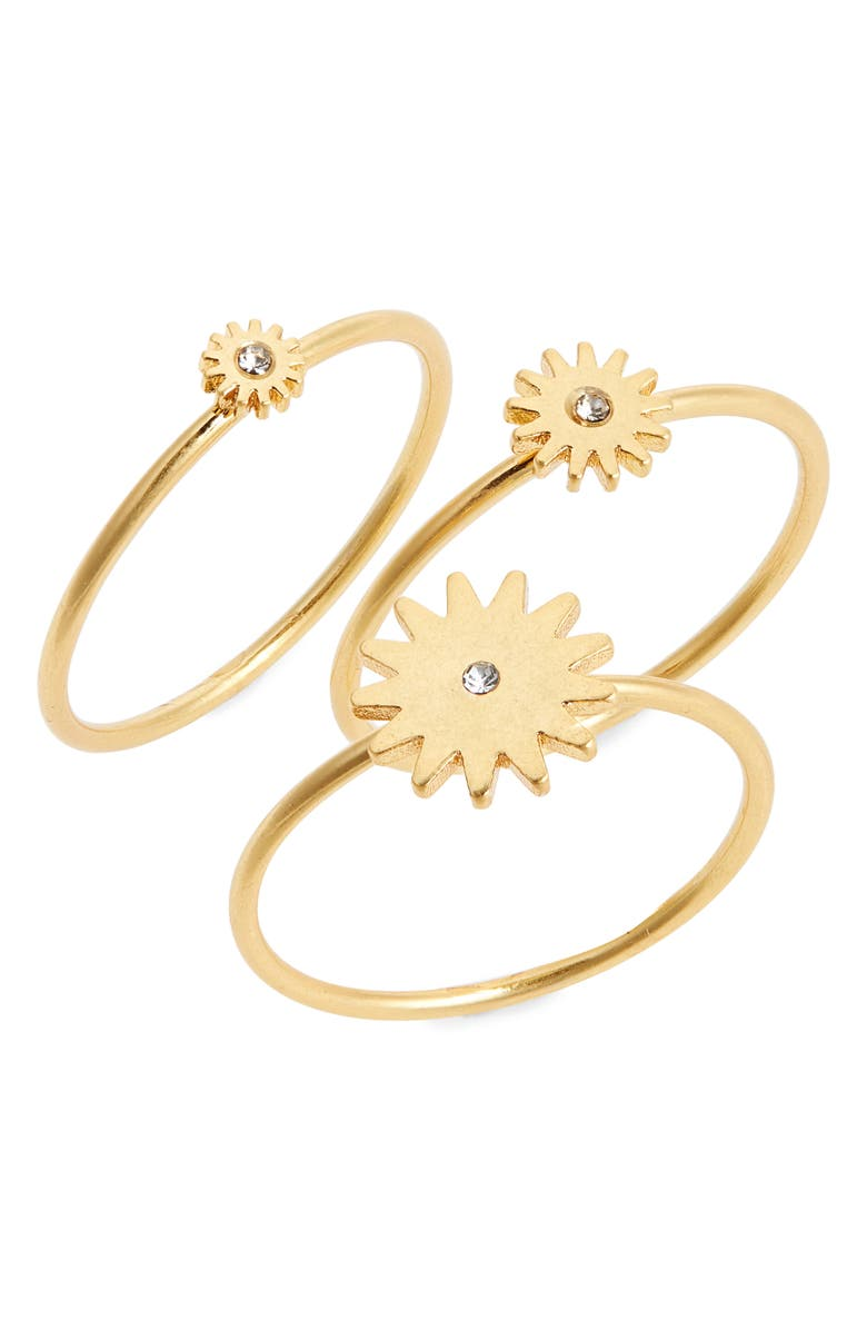 MADEWELL My Three Suns Ring Set, Main, color, VINTAGE GOLD