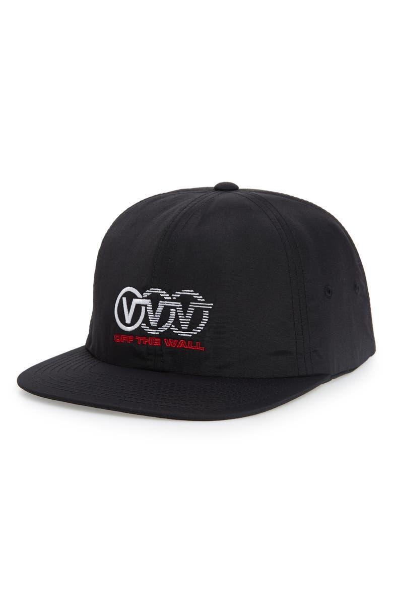 VANS Triple Circle Jockey Baseball Cap, Main, color, BLACK