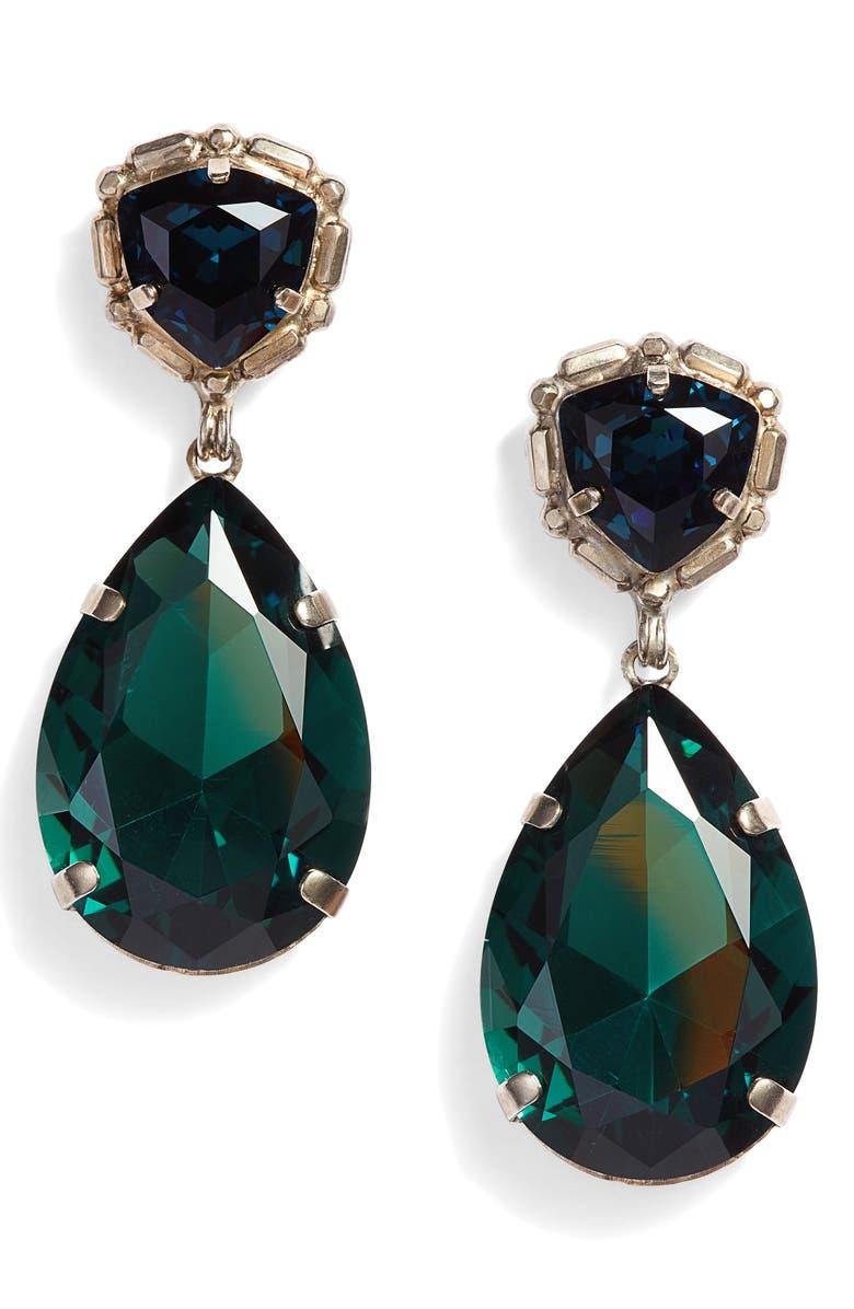 SORRELLI Pear Crystal Statement Earrings, Main, color, 400