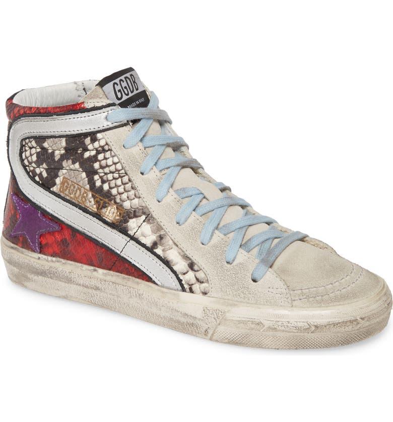 GOLDEN GOOSE Slide High Top Sneaker, Main, color, MULTI SNAKE PRINT