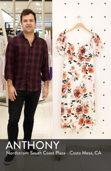 Floral Print Sweetheart Midi Dress, sales video thumbnail