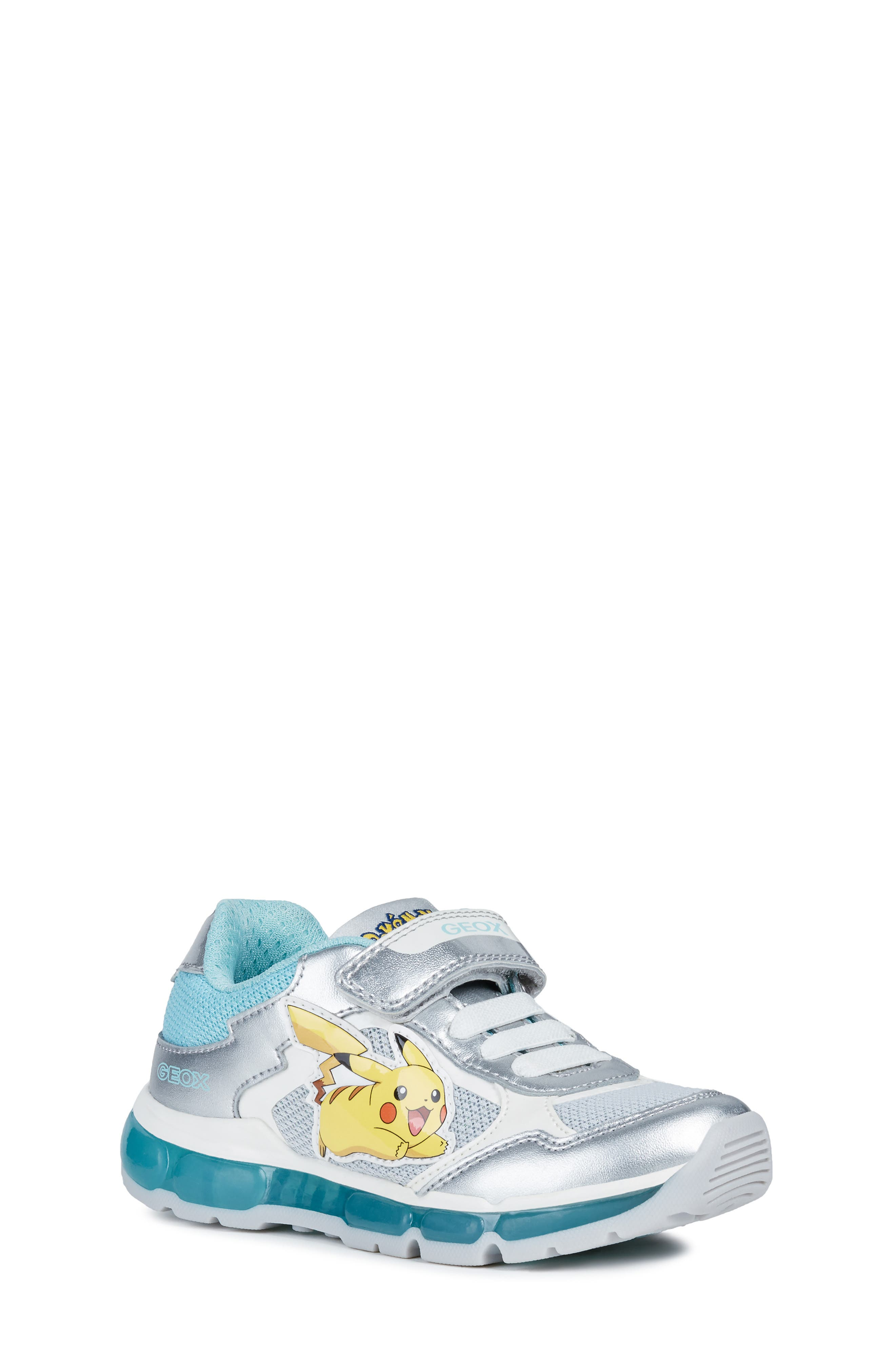 Toddler Geox Jr Android LightUp Sneaker Size 105US  28EU  Metallic