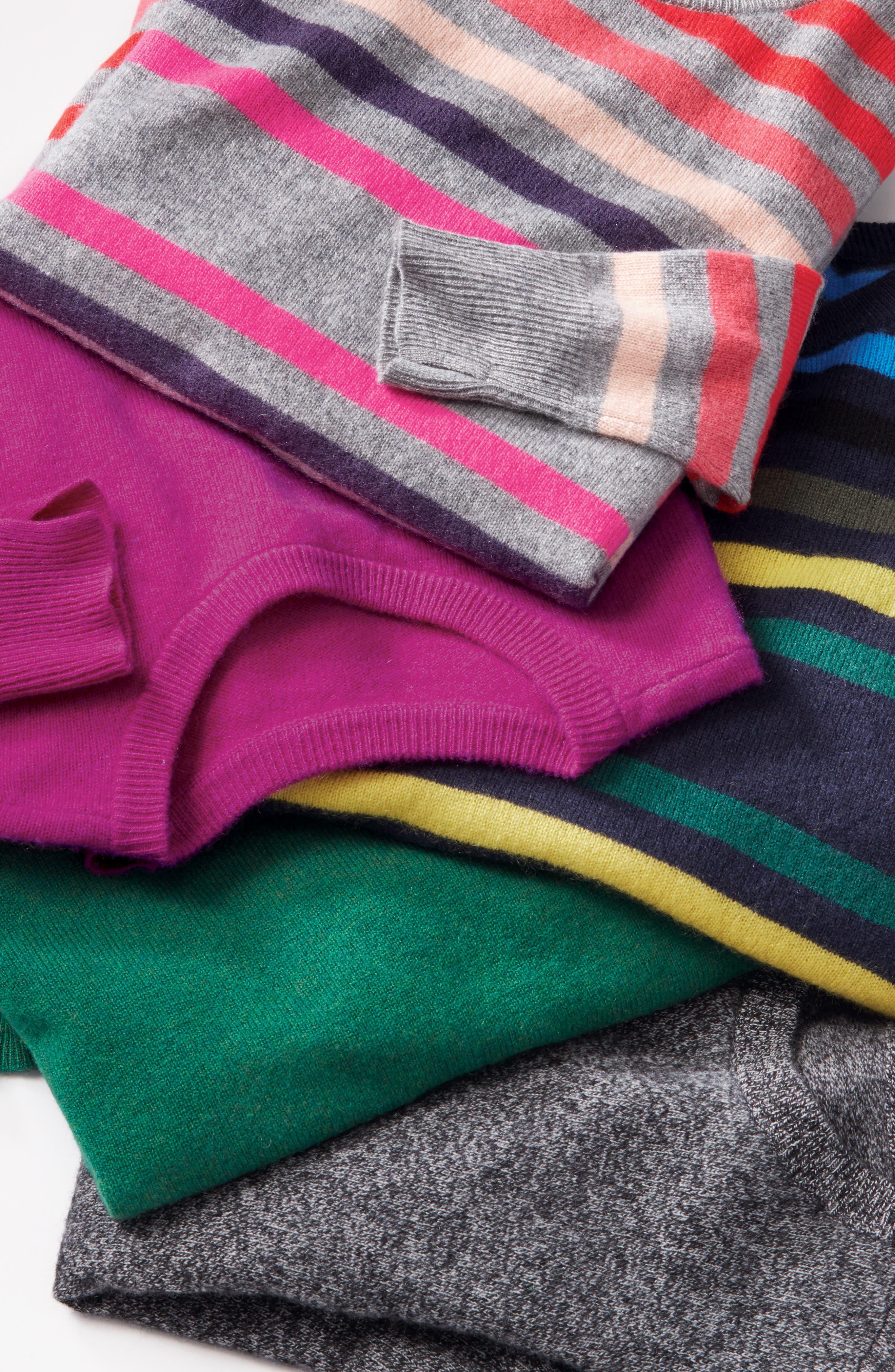 ,                             Crewneck Cashmere Sweater,                             Alternate thumbnail 9, color,                             002