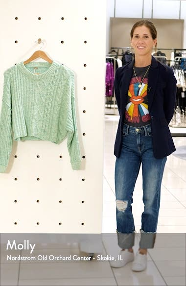 On Your Side Crop Sweater, sales video thumbnail