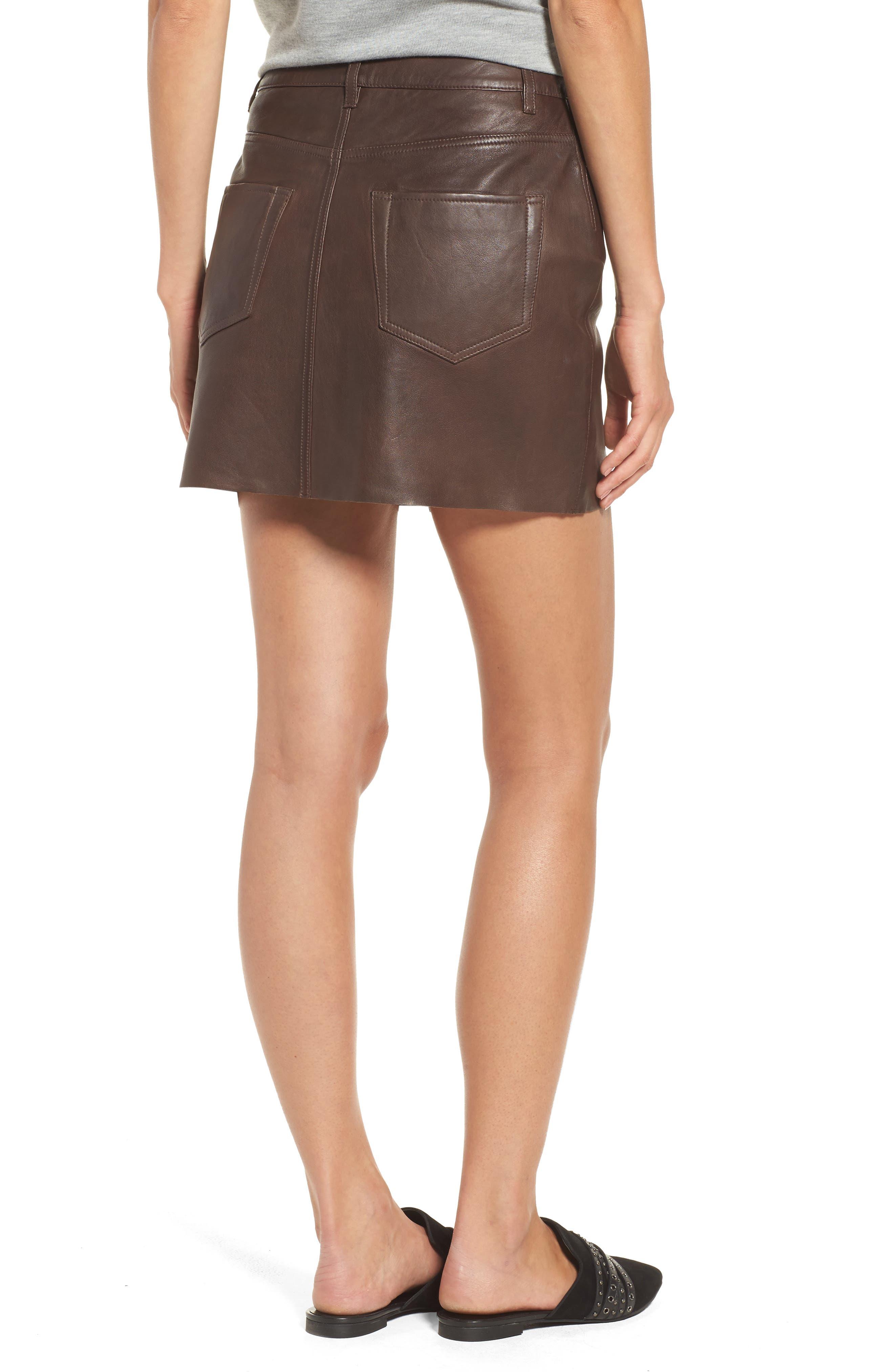 ,                             x Something Navy Leather Miniskirt,                             Alternate thumbnail 2, color,                             200