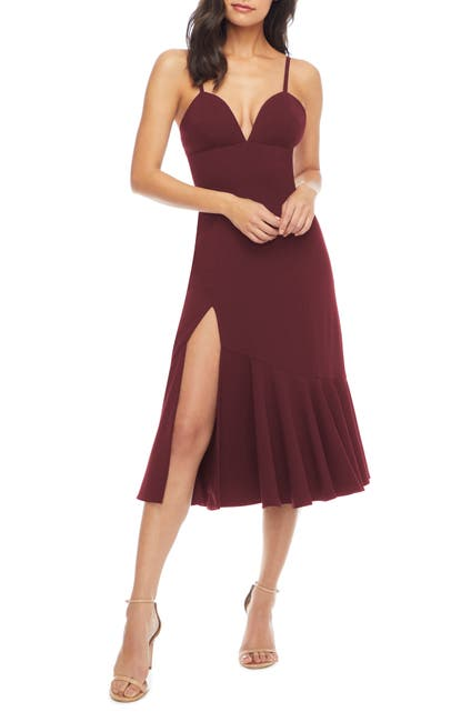Image of Dress the Population Marilyn Slit Midi Dress