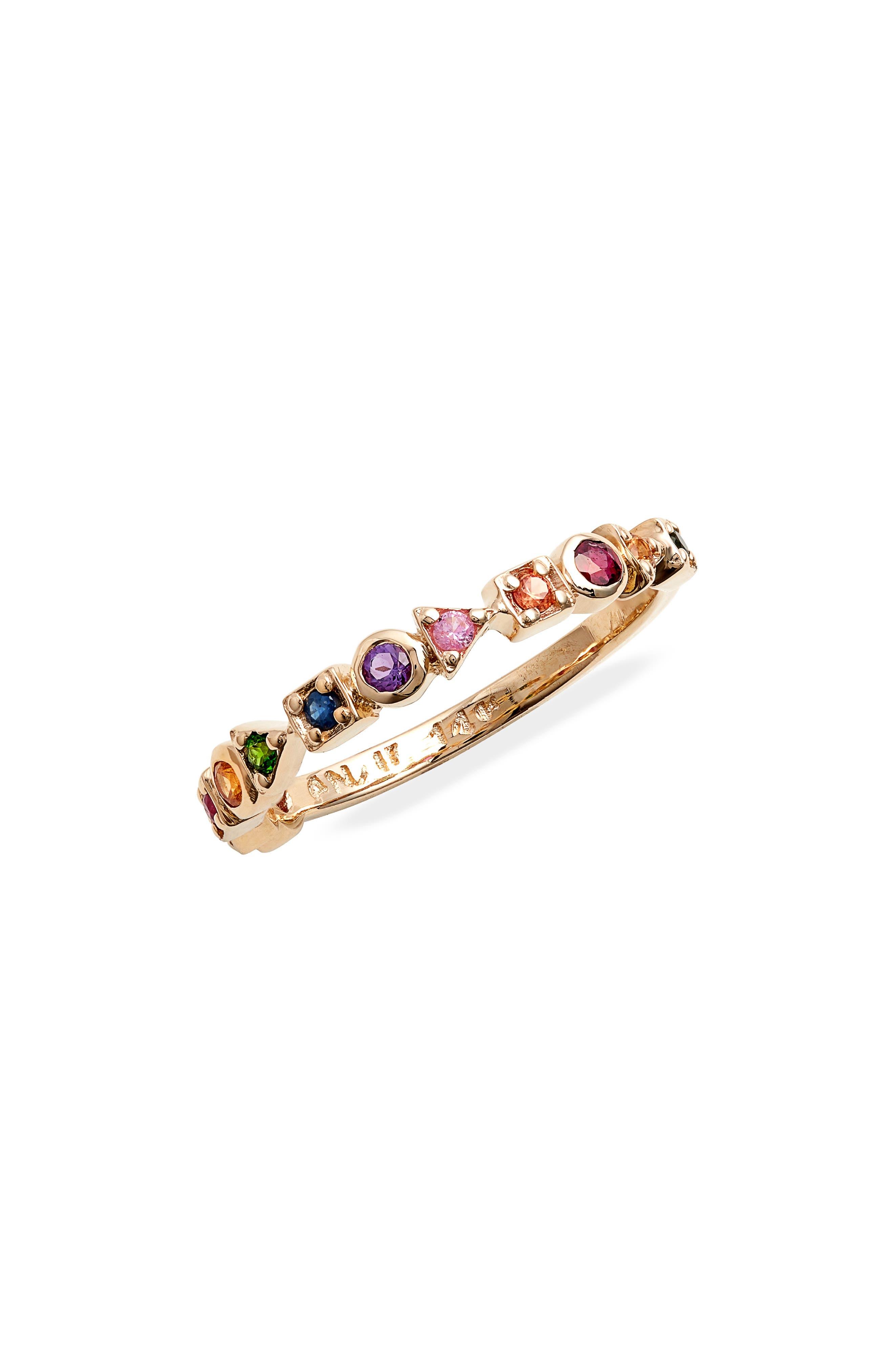 Women's Anzi Cleo Rainbow Eternity Band Ring