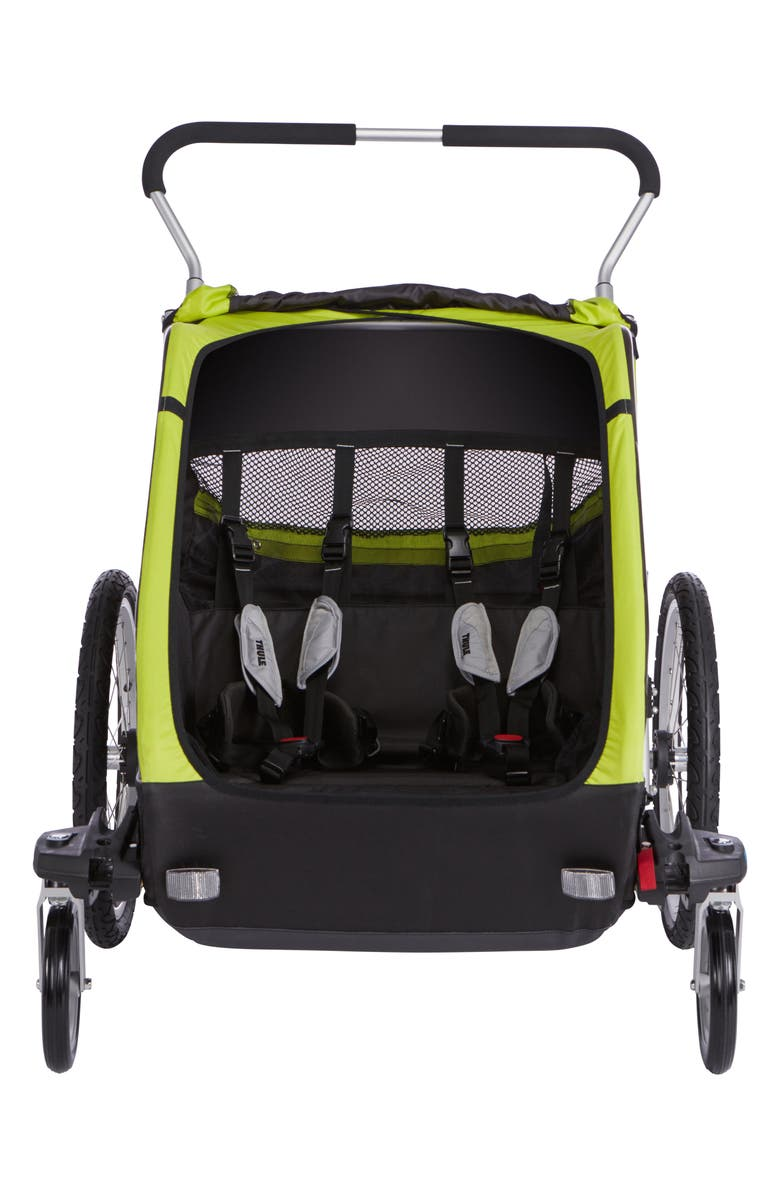 THULE Chariot Cheetah XT 2 Multisport Double Cycle Trailer/Stroller, Main, color, CHARTREUSE