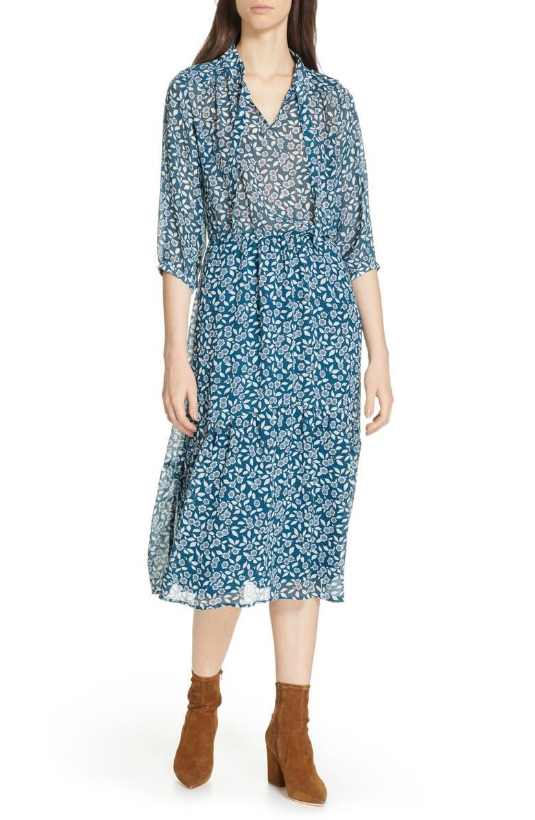 BA&SH Bonnie Midi Dress, Main, color, 400