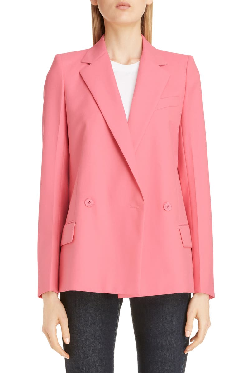 GIVENCHY Double Breasted Lightweight Wool Jacket, Main, color, 672