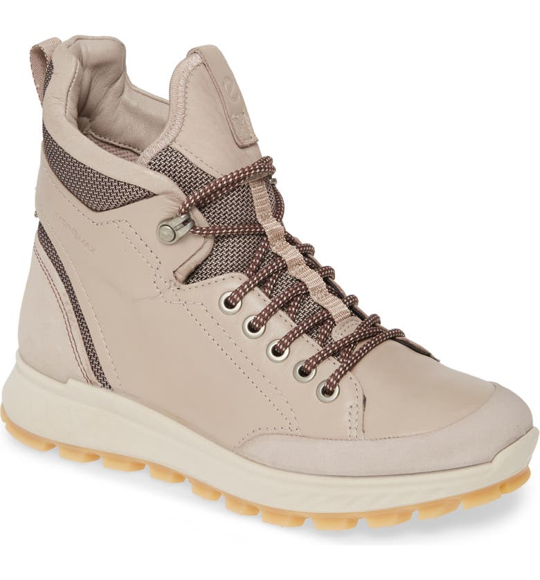 ECCO Exostrike Hydromax<sup>®</sup> Lace-Up Boot, Main, color, GREY ROSE LEATHER