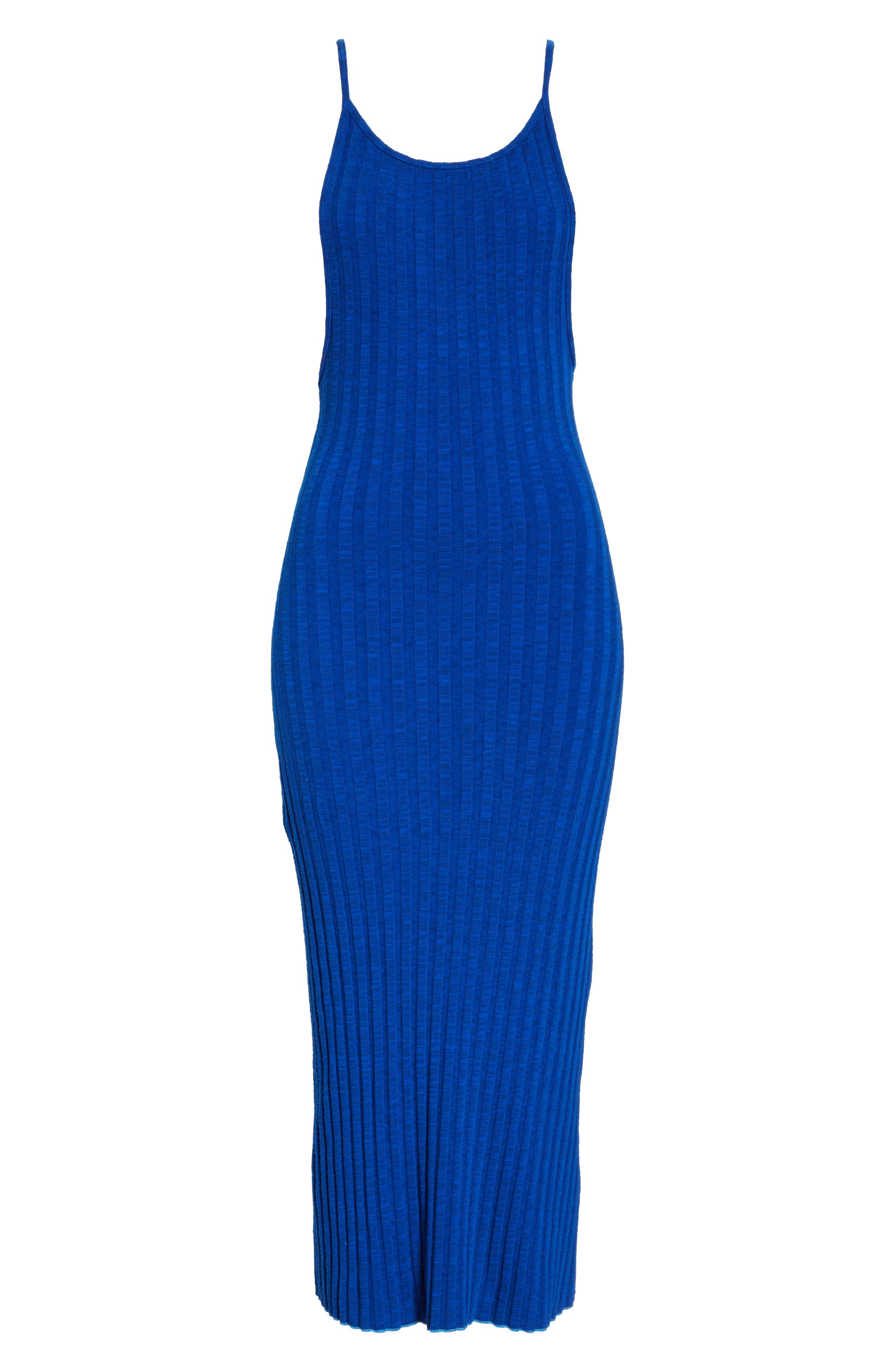 ,                             Matomi Rib Dress,                             Alternate thumbnail 6, color,                             ELECTRIC BLUE