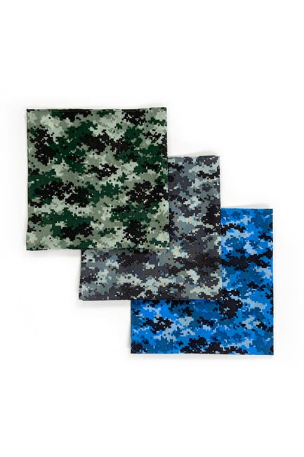 Image of CONSTRUCT Camo Printed Kids Bandana - Pack of 3