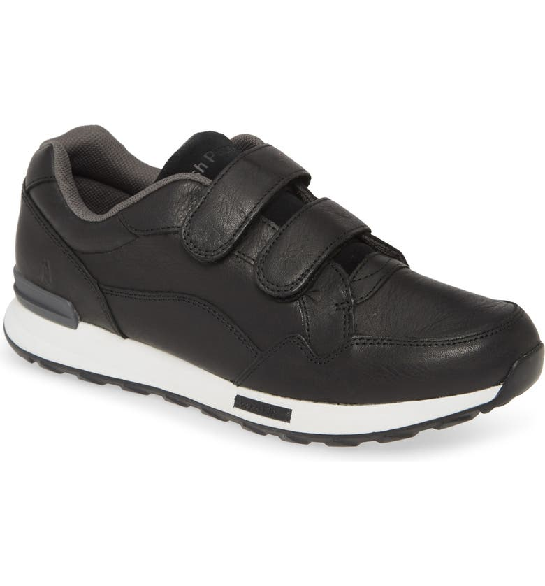 HUSH PUPPIES<SUP>®</SUP> Jenna Sneaker, Main, color, BLACK LEATHER