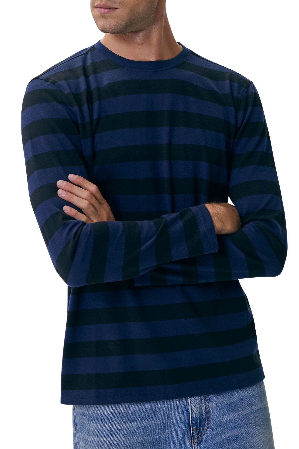 Image of BALDWIN McMinn Stripe Long Sleeve T-Shirt