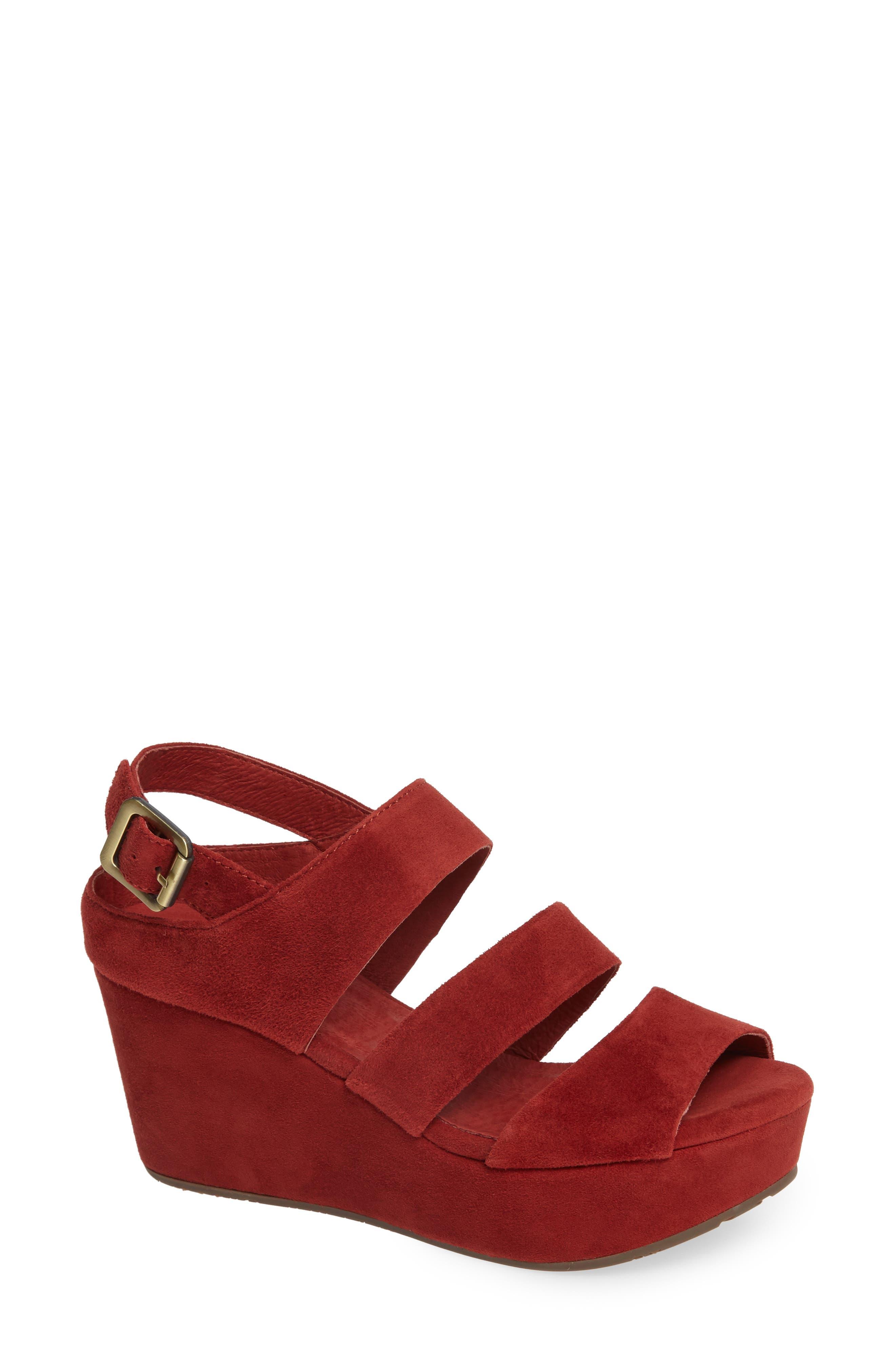 Chocolat Blu Winslet Slingback Sandal- Red