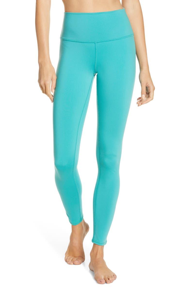 ALO Airbrush High Waist Leggings, Main, color, OCEAN TEAL