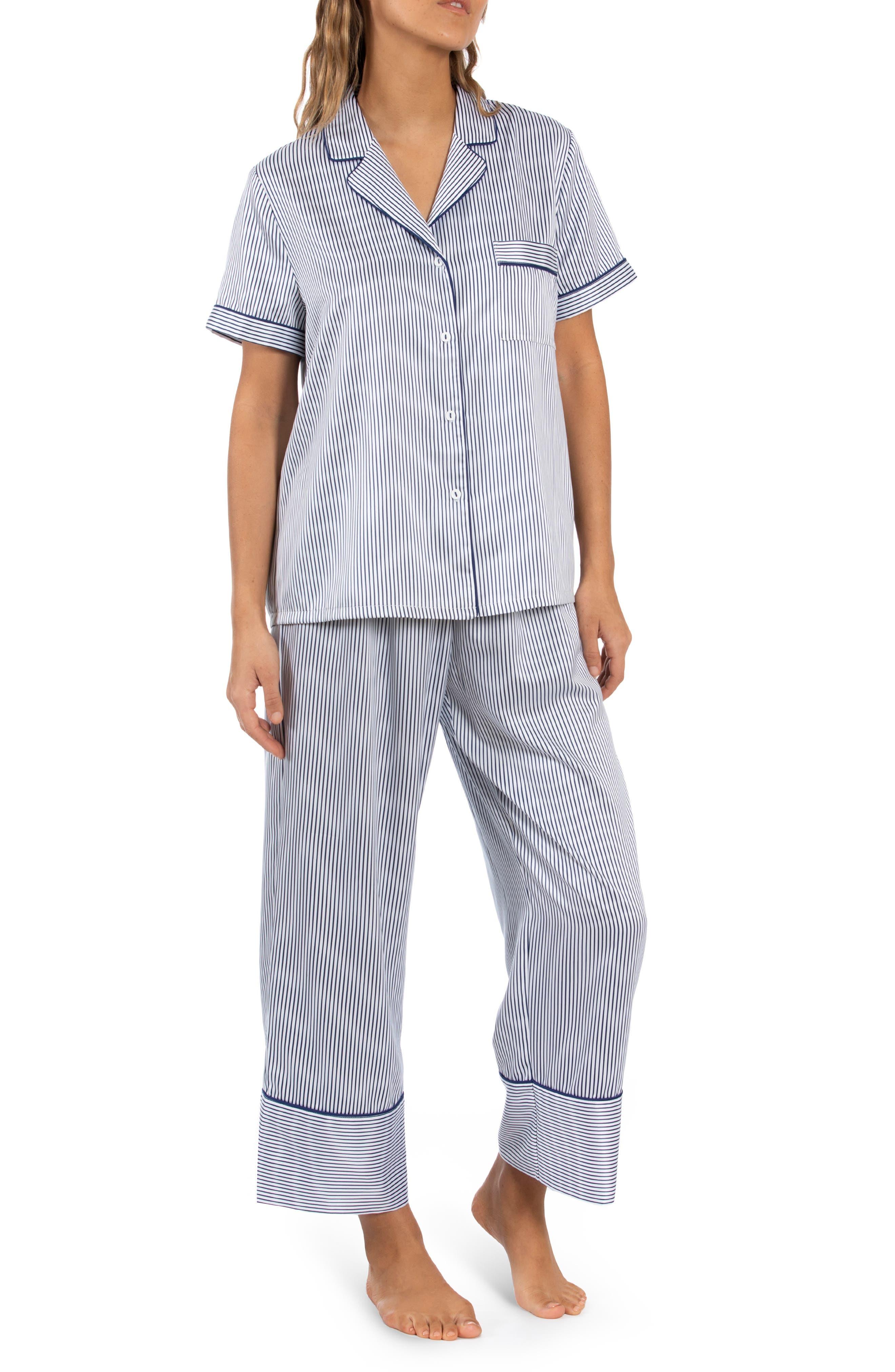 Stripe Matte Satin Pajamas