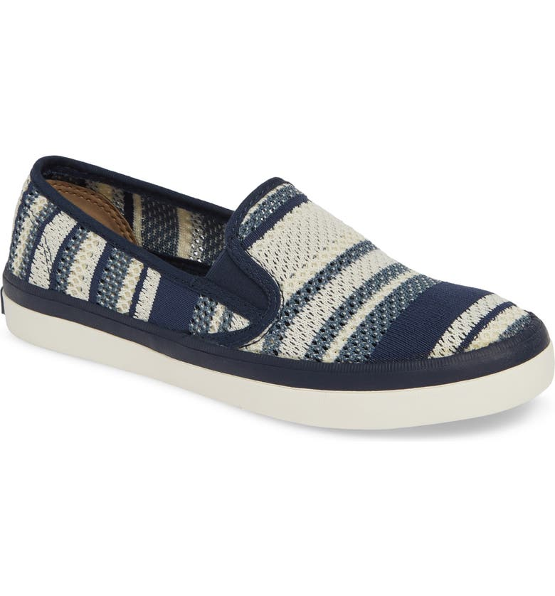 SPERRY Seaside Knit Slip-On Sneaker, Main, color, NAVY/ WHITE KNIT FABRIC